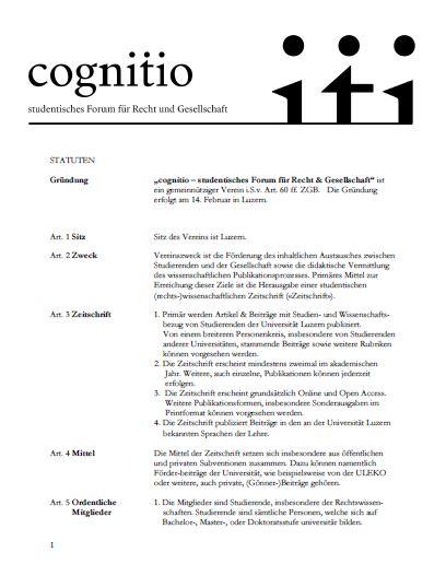 Cognitio_Statuten_Screenshot